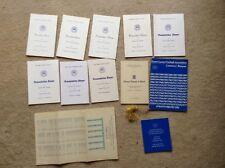 menu mid essex football league presentation dinner chelmsford 7/6/86