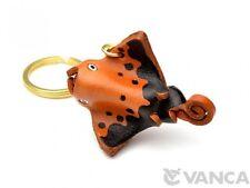Manta Ray Handmade 3D Leather (L) Keychain/Keyring *Vanca* Made in Japan #56171