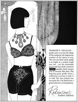Warner Delilah Girdle Lace Bra ROBINSON'S DEPARTMENT STORE California 1965 Ad