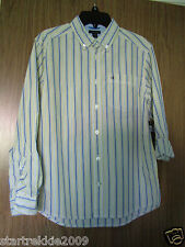 TOMMY HILFIGER BOY'S MULTI STRIPE, L/SLEEVES SHIRT, SIZE M(12-14) 100% AUTHENTIC