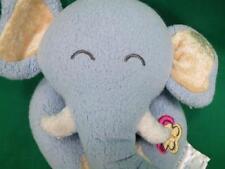 CARTER'S PRESTIGE TOY SLEEPING BABY BLUE BOY ELEPHANT RATTLE BUTTERFLY PLUSH