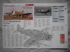 Cutaway Key Drawing of the Republic P-47 Thunderbolt