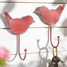 2 tlg Wandhaken Vogel aus lackiertem Metall NEU