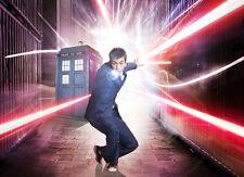 "Doctor Who- British Season TV Show Fabric poster 17"" x 13"" Decor 23"