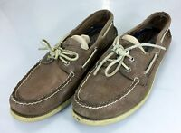 Sperry Top-Siders Mens 13 M Deck Boat Shoes Brown Leather 47 EU