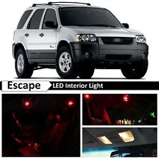 12x Red Interior License Plate LED Light Package Kit for 2001-2006 Ford Escape