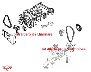 ELIMINAZIONE CONTRALBERO POMPA OLIO ESAGONO E ALBERINO AUDI VW SEAT SKODA FORD