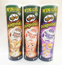3 x NEW Pringles Pringoooals 2020 Limited Edition Pulled Pork Doner Kebab Chilli
