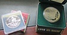 Canada  Sterling Silver Dollar  1998 RCMP Proof & UNC ( BU ) Lot Of 2 Gift Idea