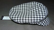 Nine West Hat Houndtooth Check Pattern Baker Boy Style ONE SIZE Black/White BNWT
