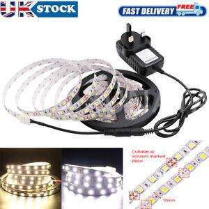 1-5m LED Strip 5050 Self Adhesive Flexible Tape Lamp Indoor Outdoor Lighting 12V