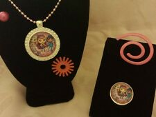Little Charmers Hazel Lavender Posey Necklace and Ring Set in Gift Box!