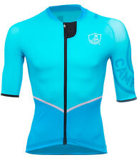 NEW Campagnolo Titanio Aqua Blue Cycling Race Jersey RRP £124.99 Made in Italy