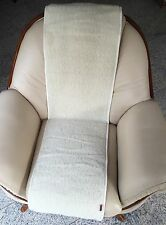 Housse de fauteuil laine mérinos bouclé 40x200 cm, jeté, 100% laine