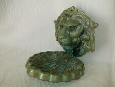Alte Groß Bronze  Seifenschale.  Löwe  Gewicht 2 Kg.