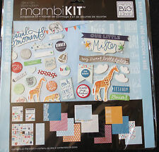 MAMBI Baby Boy  Our Little Mister  12x12 Scrapbook Page Kit  Cool Baby Boy
