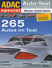 ADAC Auto-Test Winter 2005/2006 Elise Crosswagon Copen XC90 Crossfire Vel Satis