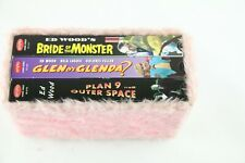 Ed Wood VHS Box Set Fuzzy Pink Plan 9 From Outer Space Glen Or Glenda