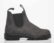 Zapatos de cuero Blundstone 587 Para Hombre Negra rústico estilo de vida Informal tire de