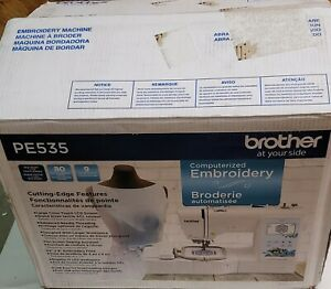 """Brother PE535 Embroidery Machine, 80 Built-in Designs, 4"""" x 4"""" Hoop Area, Large"""