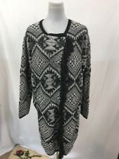 £99 New Monsoon Sz L 16 18 Chunky Knitted Long Lined Cardigan Festival Womens