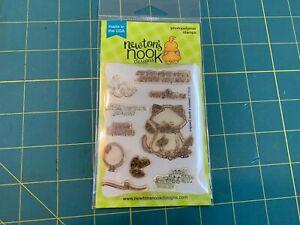 Newton's Nook Designs Newton's Birthday Flutter Clear Stamp Set