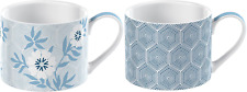 More details for v&a 5227091 'matley' fine china espresso cups with printed decorative floral 150
