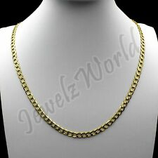 """10K Solid Yellow Gold Cuban Curb Link Chain Necklace 2.5MM 16"""" 18"""" 20"""" 22"""" 24"""""""