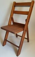 Vintage Standard Manufacturing Co. Wooden Childs Folding Chair - Doll Seat