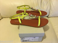 Kurt Geiger Ladies Bahamas Lime Leather Summer Shoes All Sizes NEW