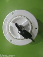 FAWO WHITE 40MM WATER TANK FILLER WITH LOCKING CAP & KEYS,CARAVAN, MOTORHOME,
