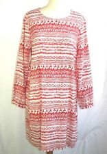 REDSOUL - DRESS FEMALE LONG SLEEVES WHITE CORAL & BLACK T L = 40/42 - NEW & TAG