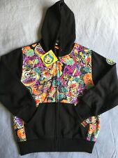 Size 8 Spongebob Squarepants New with Tags Nickelodeon Print Black Zip front hoo