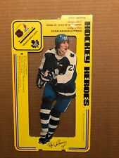 1975 HOCKEY HEROES AUTOGRAPHED STAND-UP/STICK-UP: #21 BORJE SALMING, TORONTO