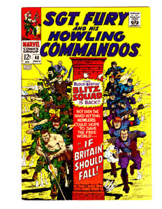 SGT. FURY AND HIS HOWLING COMMANDOS #48 in VF/NM 1967 Marvel comic w/ Hitler