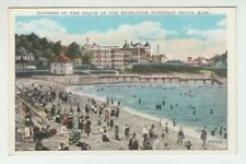 [65803] OLD POSTCARD BATHERS on BEACH at the HIGHLANDS, WINTHROP BEACH, MASS.