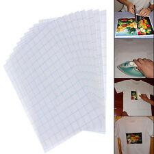 10pcs T-Shirt Print Iron-On Heat Transfer Paper Sheets For Light Fabrics Clothes