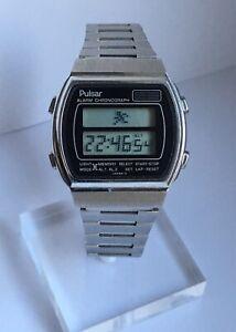 Vintage Pulsar Running Man Digital Quartz Wristwatch