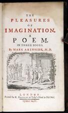 Mark Akenside Pleasures of the Imagination 1744 4th ed Alexander Pope Reserve