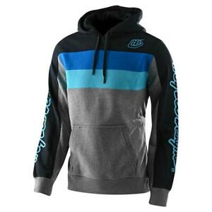 Troy Lee Designs 2020 Block Signature Pullover Hoodie Gray/Blue All Sizes