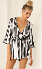 Women's Striped Polyester Jumpsuits, Rompers & Playsuits