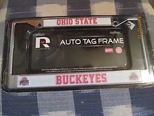 OHIO STATE BUCKEYES Chrome License Plate/Auto Tag FRAME~ NEW in Package