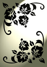 Flower Stencil Corner Flourish Shabby Chic Vintage A4 Damask furniture Floral