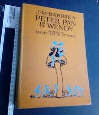 Peter Pan and Wendy Pictured by Mabel Lucie 1920C Illustrated vintage Rare Ed