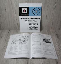 IHC Werkstatthandbuch Fahrgestell für Traktor 433  533  633 733 .