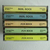 Fun Rock & Real Rock 5 Cassette lot Various Artists