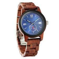 Wilds Explorer Handcrafted Minimalist Men's Wood Watch Japanese Quartz Movement