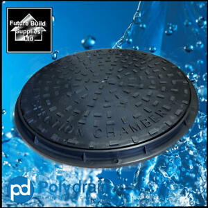 Polydrain Inspection Chamber Manhole Round Plastic Cover & Frame 450mm