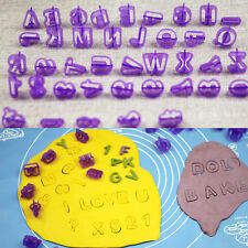40pcs Alphabet Letter Number Fondant Cake Biscuit Baking Mould Cookie Cutters SM