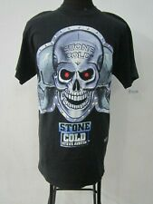 VINTAGE STONE COLD STEVE AUSTIN T SHIRT 1998 WWF Skull SIZE L